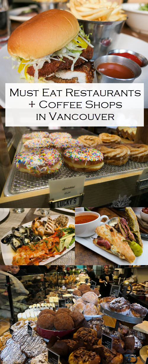 Best Vancouver Restaurants and Coffee Shops. See where to eat and drink in Vancouver's Gastown, yaletown, Downtown, and West 4th. A tasty travel Guide for British Columbia. #lpworldtravels #canada #vancouver #travel #travleblogger #travelguide #food #foodie