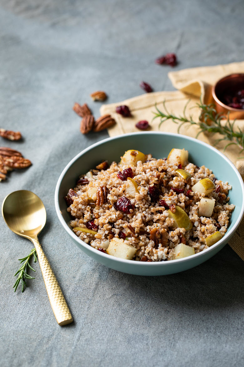 Warm Bulgur Salad w. Cranberries