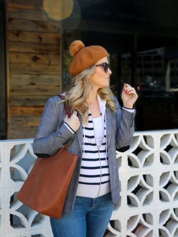 Casual Blazer Outfit - 2nd Trimester Pregnancy Outfit
