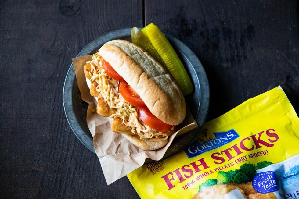Fish Po' Boys w. Cajun Slaw Recipe
