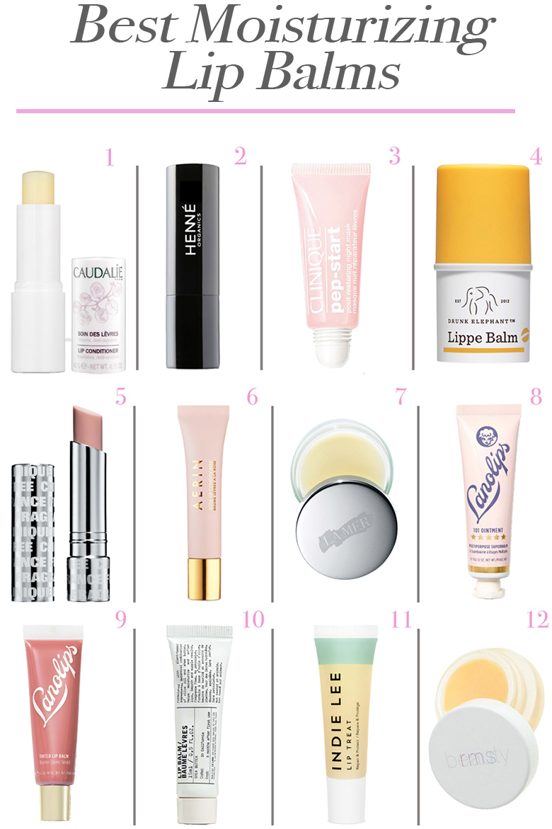 Best Moisturizing Lip Balms 2019. Get this lineup of the best skincare for dry lips that are chapped. See clean beauty and designer lip balms and treatments. #skincare #lips #beauty #dryskin #winterbeauty