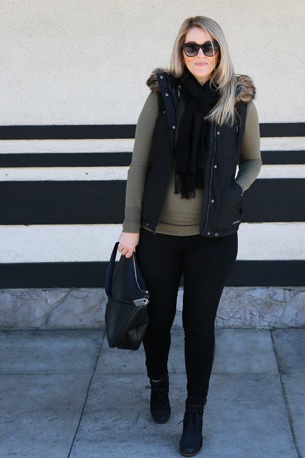 Wedge Boots Outfit - Cute Pregnancy Outfit for Fall