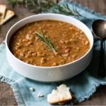Healthy Vegan Lentil Soup - One Pot Lentil Soup
