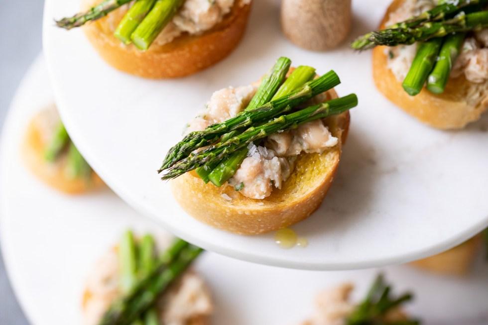 Cold Asparagus Appetizer - Asparagus Crostini