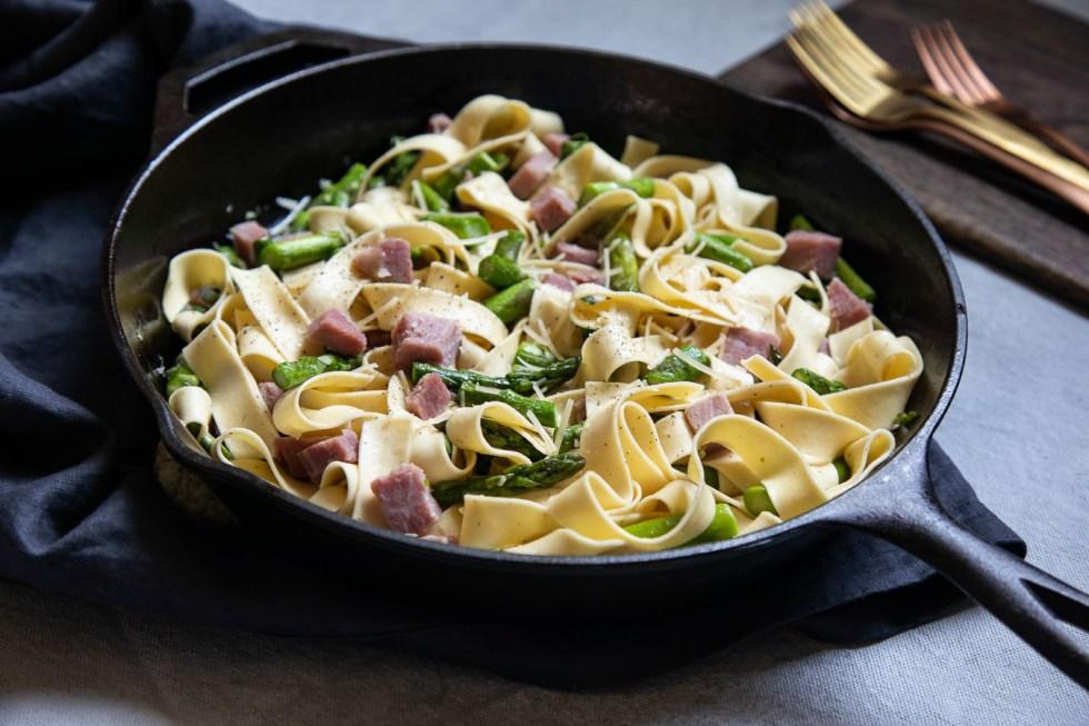 Ham and Asparagus Pasta - Diced Ham Recipe