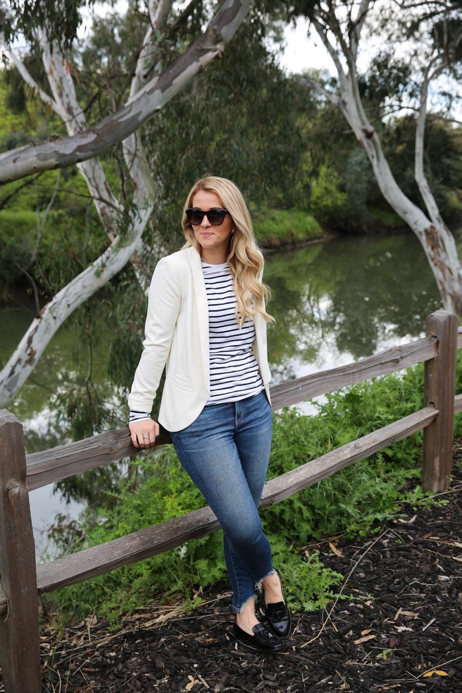 How to Wear a White Blazer - Outfit Ideas