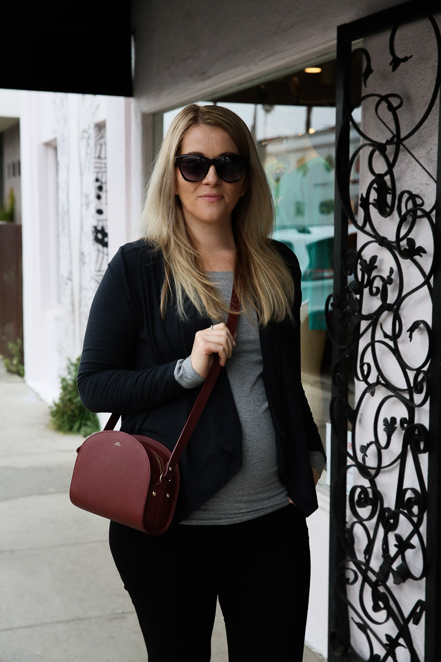 Pregnancy Style Tips - Open Front Jacket Outfit