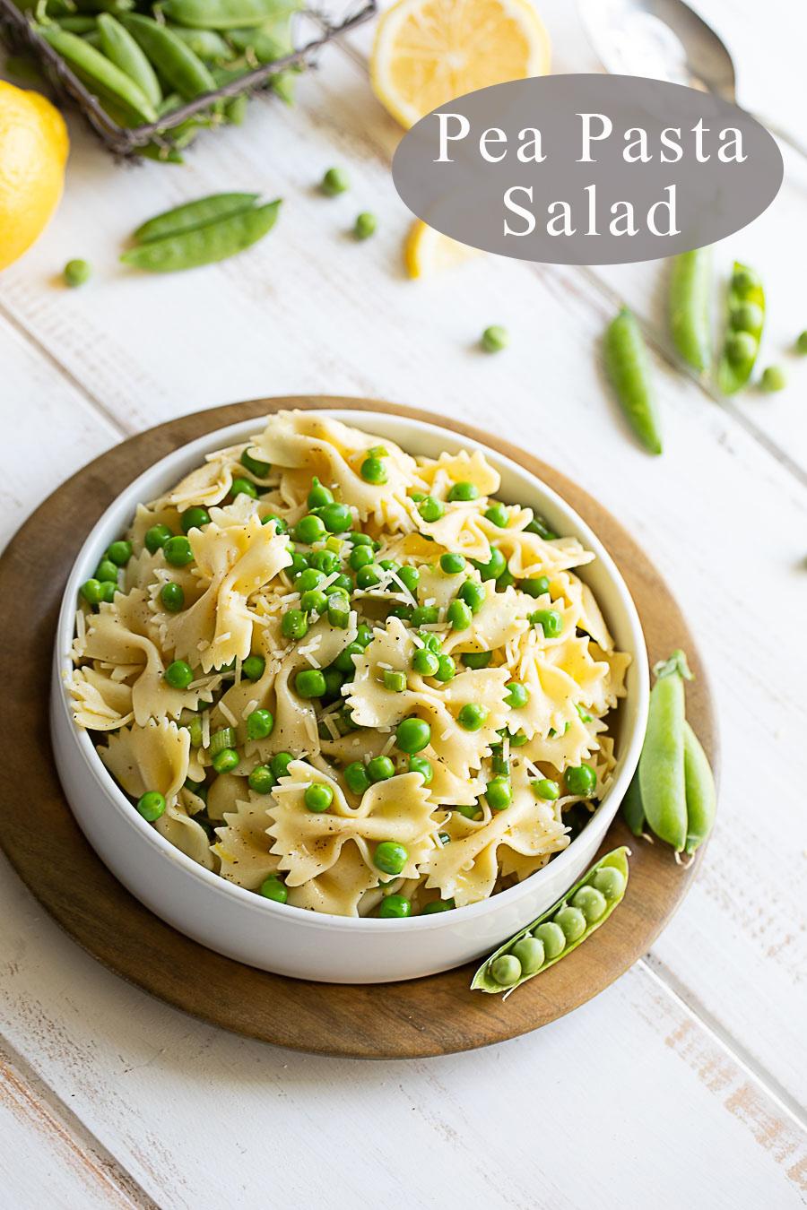 Healthy Pasta Salad - Pea Pasta Salad #peas #spring #pasta #pastasalad #potluck
