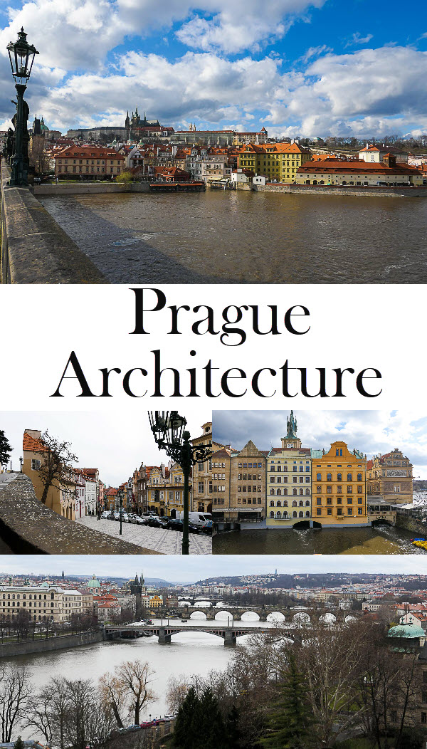 Prague Architecture Photos. See St. Vitus Cathedral, St. Nicholas, and the Spanish Synagogue. This intro to a Prague travel guide offers food suggestions, how to avoid some crowds, and where to stay in Prague. #travel #travelguide #czech #prague #europe
