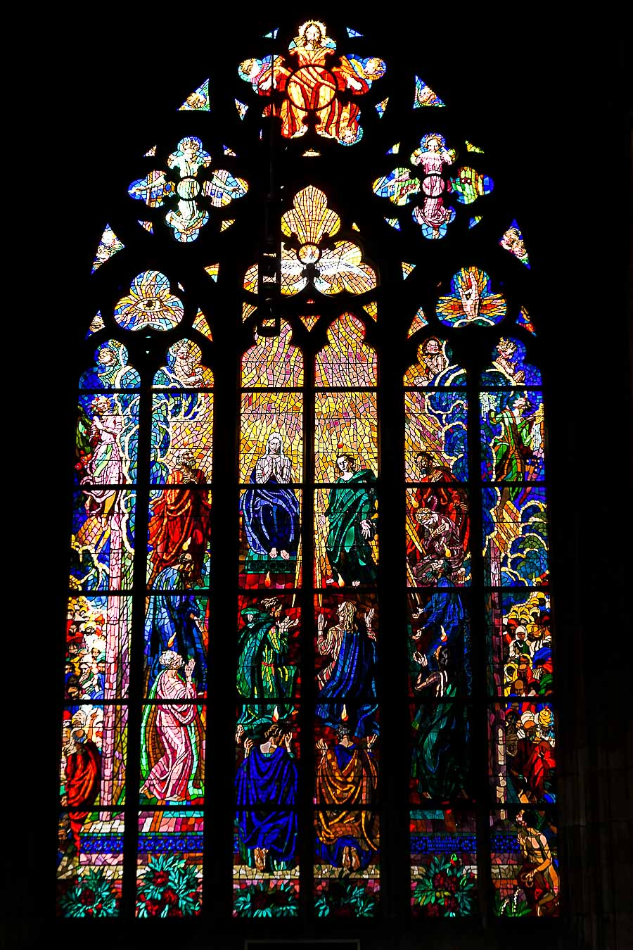Prague Architecture Photos - St. Vitus Cathedral Stained Glass Windows