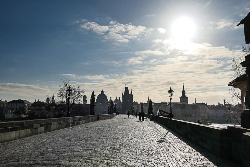 Prague Architecture Photos - Charles Bridge in the Morning