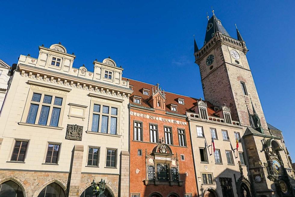 Prague Architecture Photos - Old Town Clock Tower