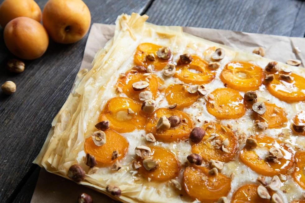 Phyllo Dough Tart with Honey + Hazelnuts