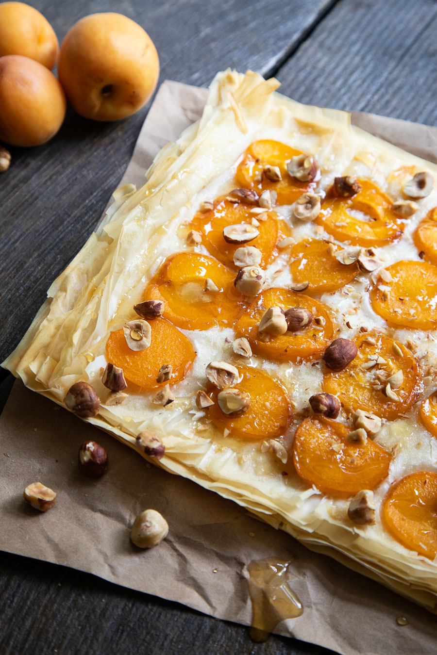 Apricot Tart with Phyllo Dough