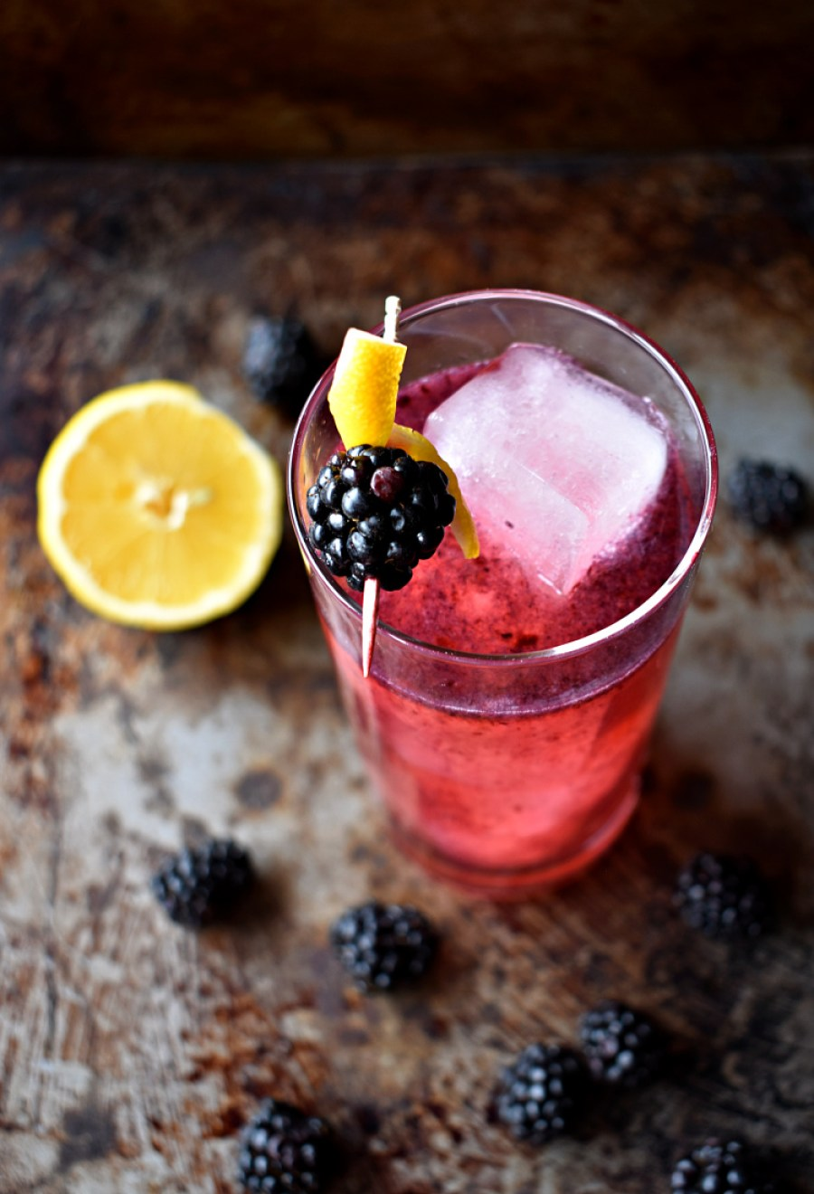 Coconut Water Lavender Blackberry Mocktail - Boozy Oyster