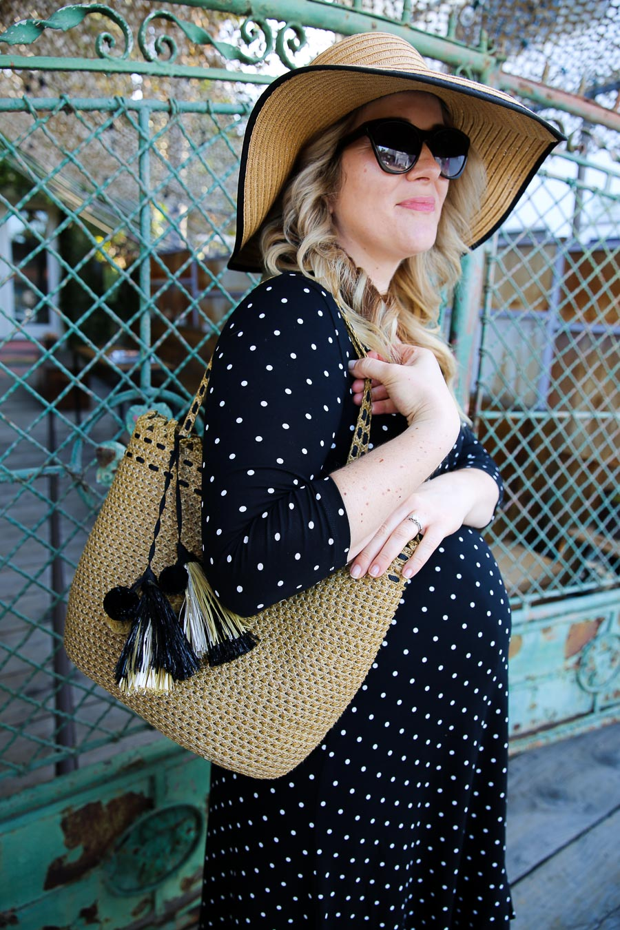 Maternity Wrap Dress Outfit - Maternity Accessories