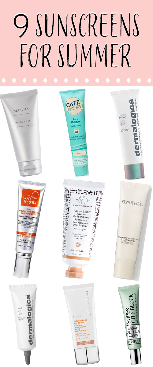 Best Sunscreens for Face. Get sunscreen recommendation for summer skincare. Under eye care and recommendations for Dermalogica, CoTZ, Suntegrity, Clinique, Drunk Elephant, Dr. Gross Skincare, and Arcona. #skincare #summer #summerbeauty #sunscreen #beauty #beautyblogger