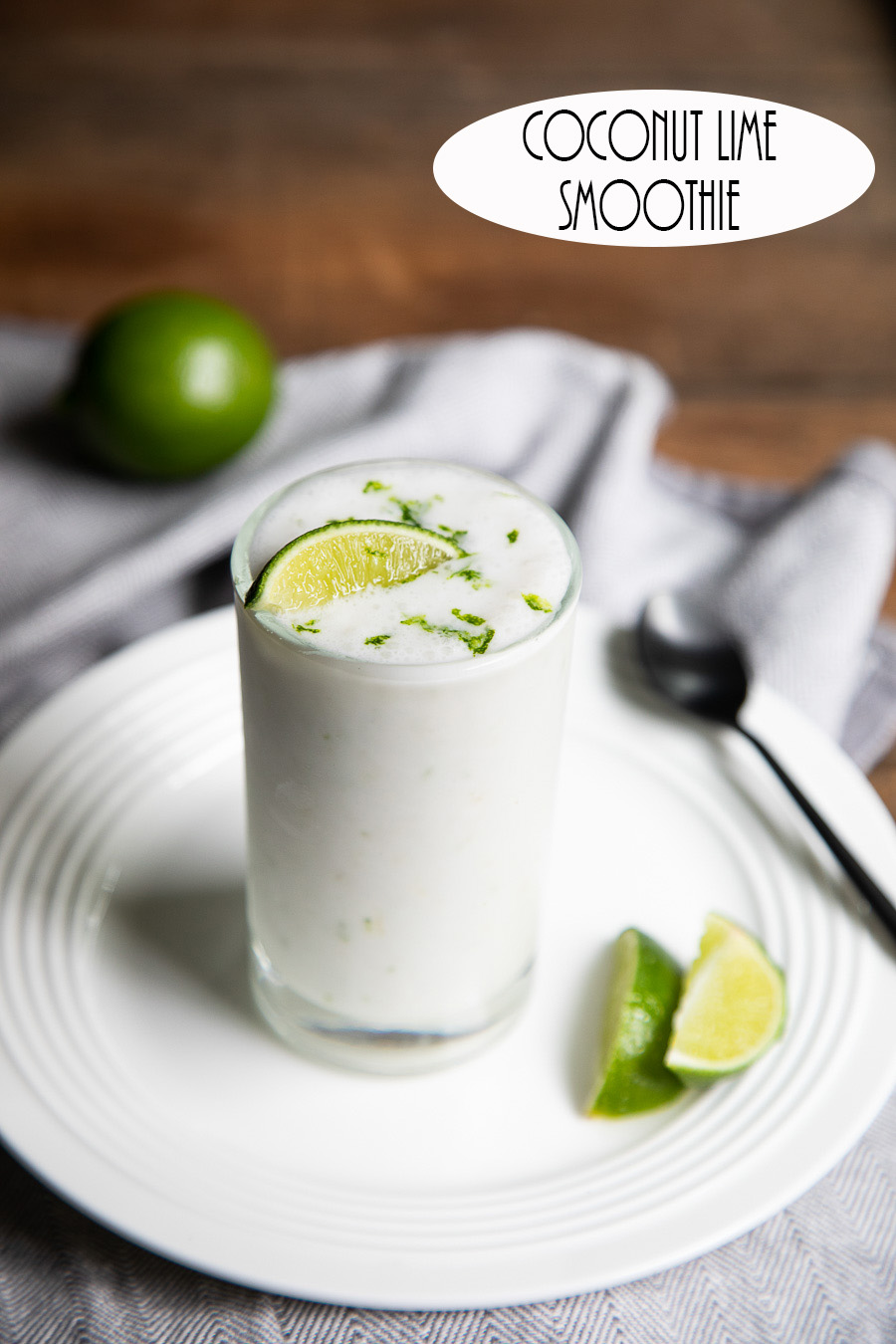 Coconut Lime Smoothie. A delicious summer <a href=