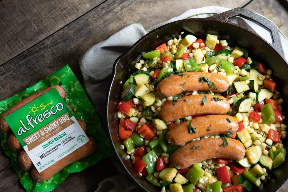 Smoked Sausage Skillet Recipe with Veggies - Easy Dinner Idea