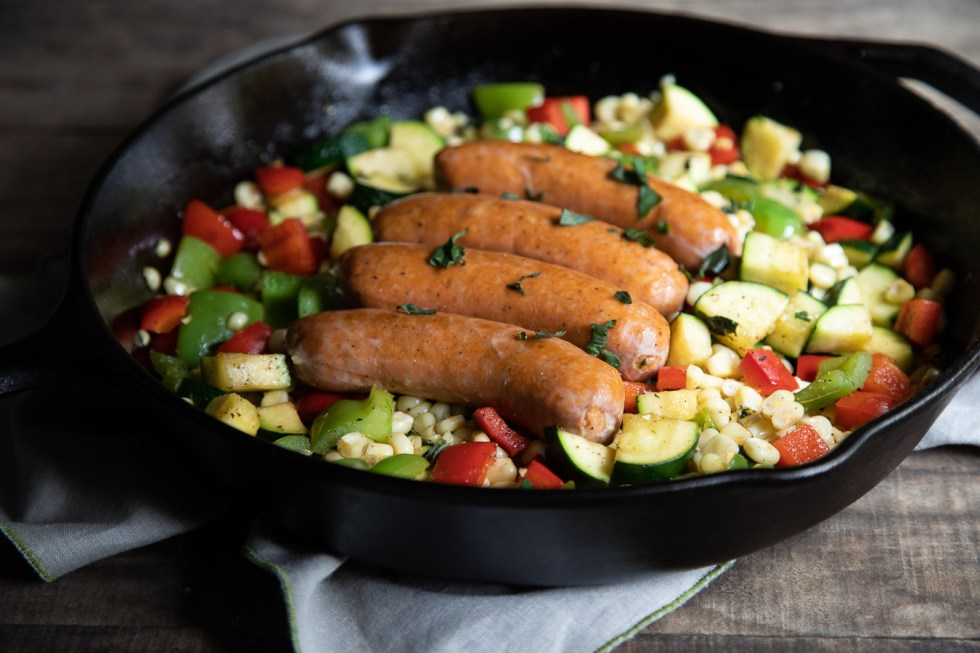 Smoked Sausage Skillet Recipe with Veggies - Easy Dinner Idea