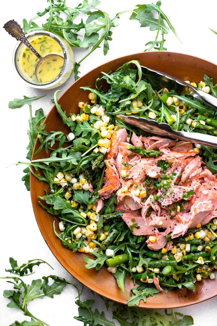 Blistered Corn Asparagus Salad with Salmon - View from Great Island-2