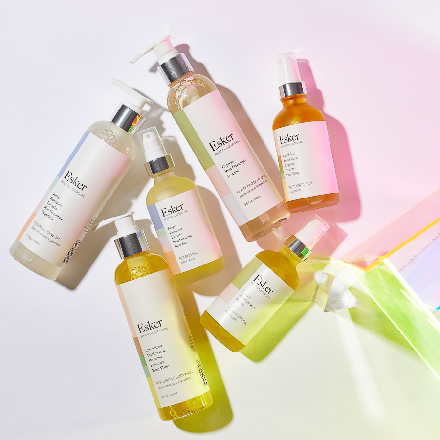 Esker Beauty Body Oils and Body Washes