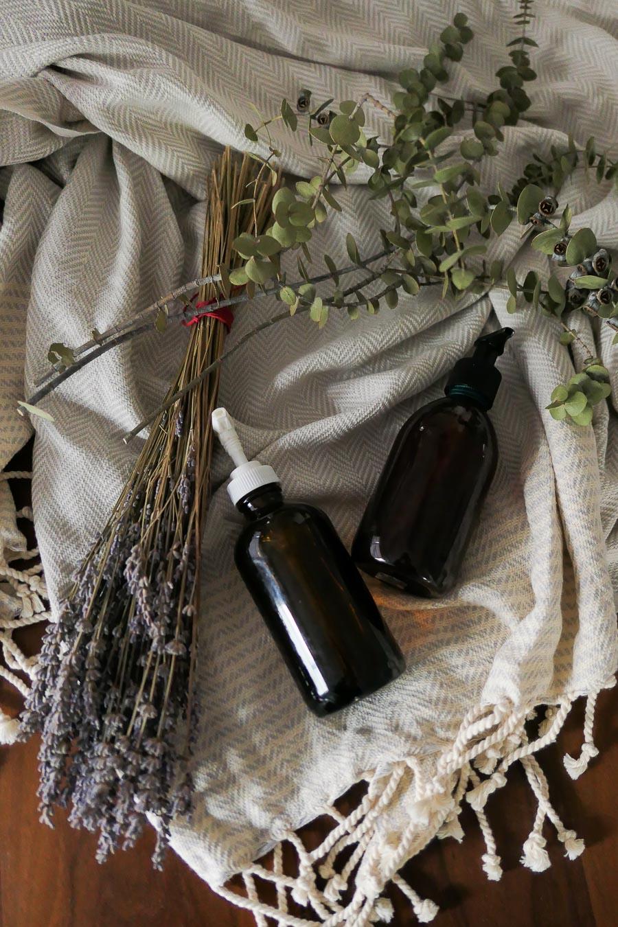 DIY Holiday GIft- Homemade Lavender Soap Jars-2