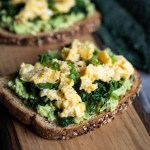 Kale Avocado Egg Toast
