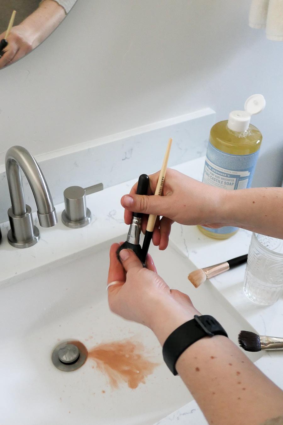 Castile Soap Brush Cleaning