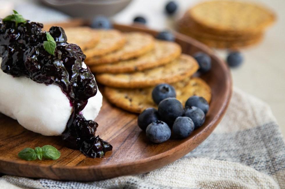 Blueberry Chutney + Goat Cheese Appetizer