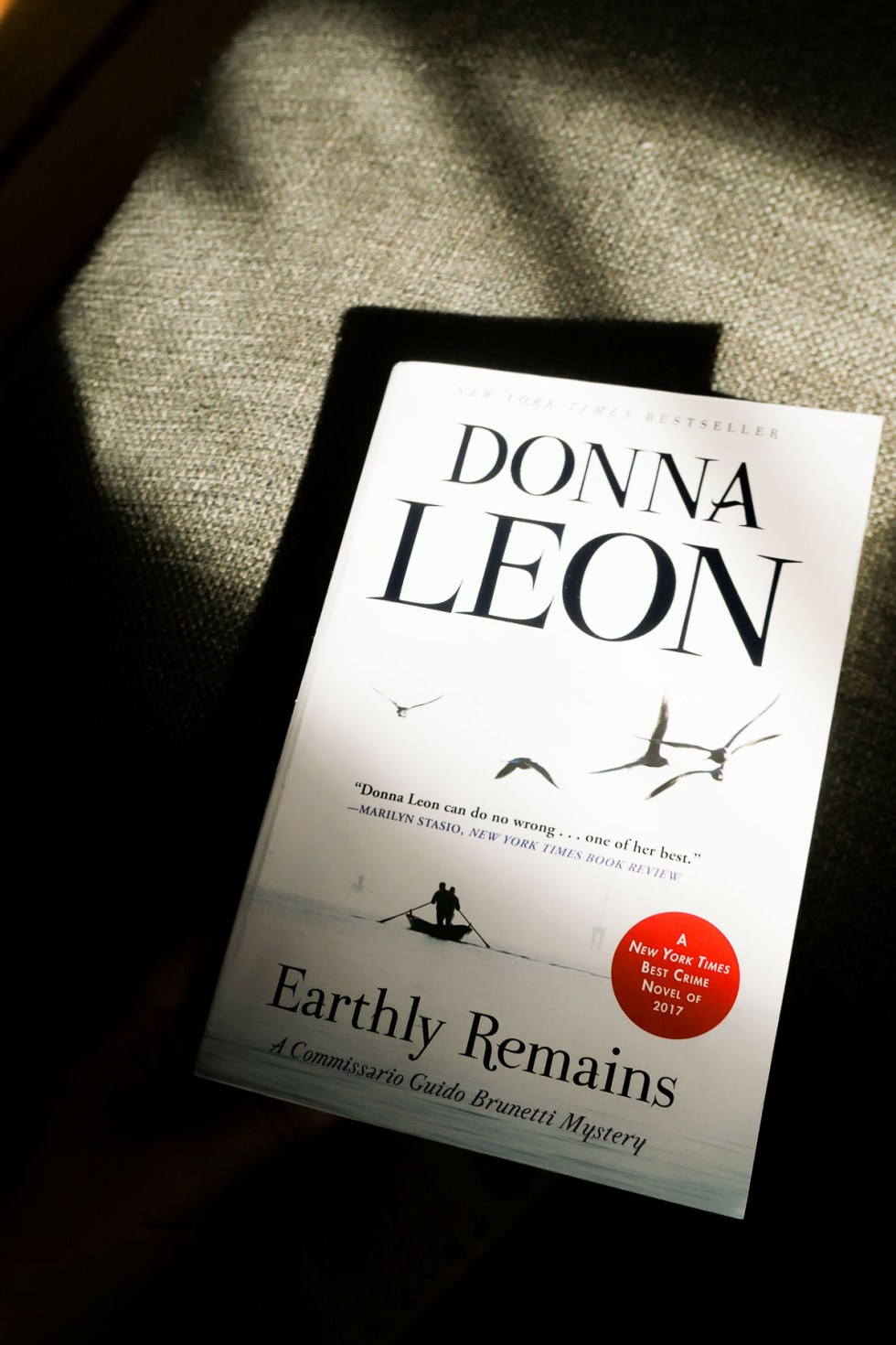 What to Read This Month - October 2020 - Donna Leon Earthly Remains Review