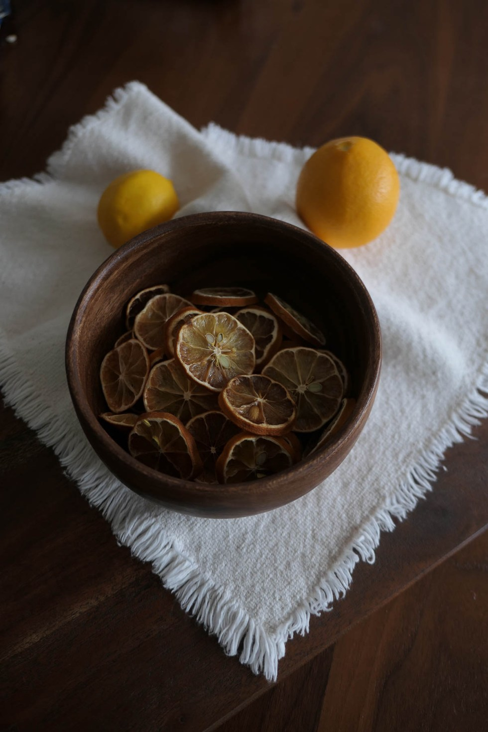 Dried Lemon Slices in Bowl