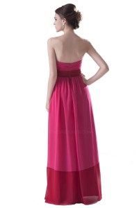 Empire Strapless Long Chiffon Bridesmaid Dresses/Wedding