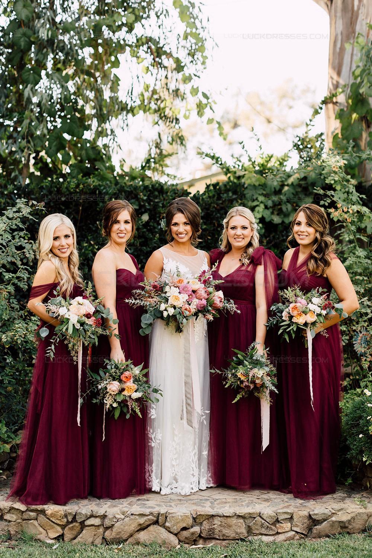 Long Burgundy Wedding Guest Dresses Bridesmaid Dresses 3010194