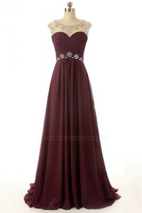 A-Line Beaded Long Chiffon Prom Evening Formal Dresses ...