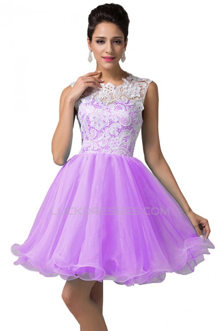 ALine Short Lace Prom Evening Formal Dresses ED011622