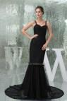 Long Black Lace Mermaid Prom Dress