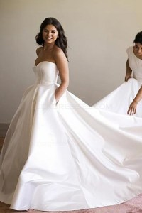 Ball Gown Sweetheart Simple Elegant Wedding Dresses Bridal ...