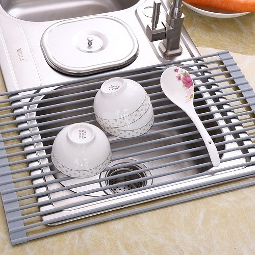 sink roll up dish drying rack