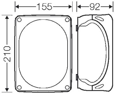 Hensel FK1606 : Junction Box, Intrinsic Fire Resistance, 1