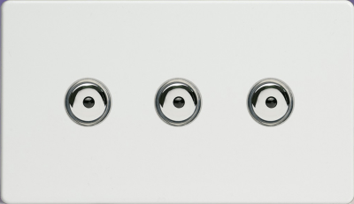 VARILIGHT IJDQI103S : Dimmer Switch, 3 Gang 1 Way Master