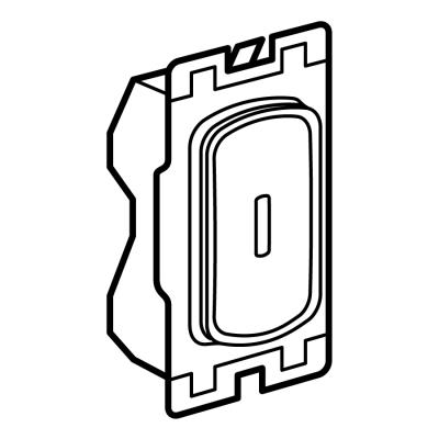 Legrand Electric Ltd 735423ET : Grid Switch, DP Key Marked