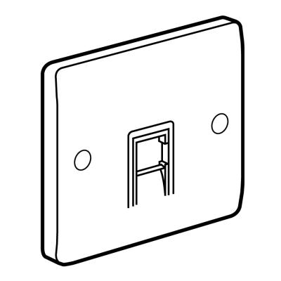 Legrand Electric Ltd 730054 : Socket, 1 Gang RJ11/12