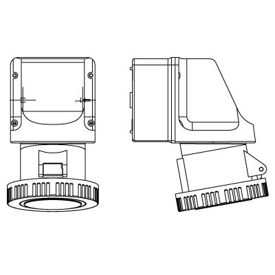 F Walther Electrics Ltd 139 : Socket, Wall 3P+N+E IP67
