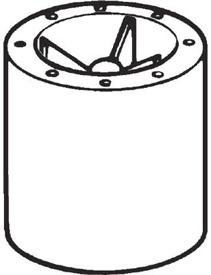 Vent-Axia Ltd 10500400 : Attenuator, Case Axial Including
