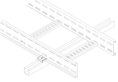 Metsec Cable Management L/SRC : Clamp, Side Rail Mild