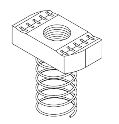 Metsec Cable Management MLN06 : Channel Nut, Long Spring
