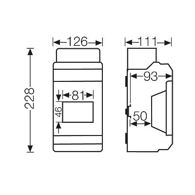 Hensel KV6104 : Box, Circuit Breaker 4.5 Modules, Metric