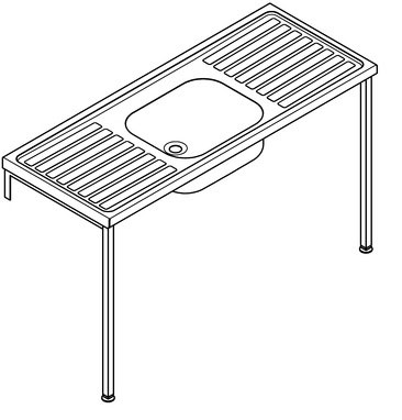 Franke Sissons Ltd G22047N : Sink, HTM64 RH Single Bowl