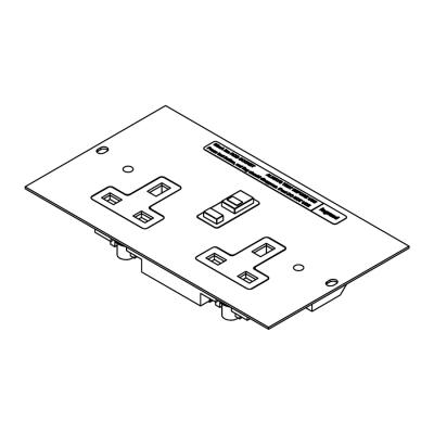 Legrand Electric Ltd SP3202 : Plate, Socket Outlet 1/2/3